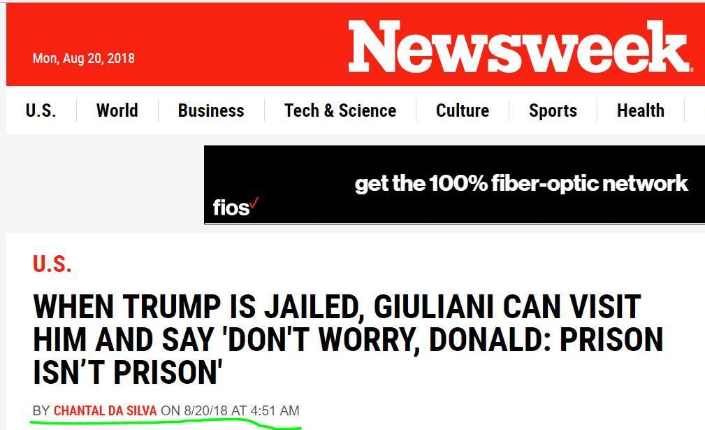 """河边 评述""""警长战总统""""之荒诞(67) 监狱不是监狱!"""